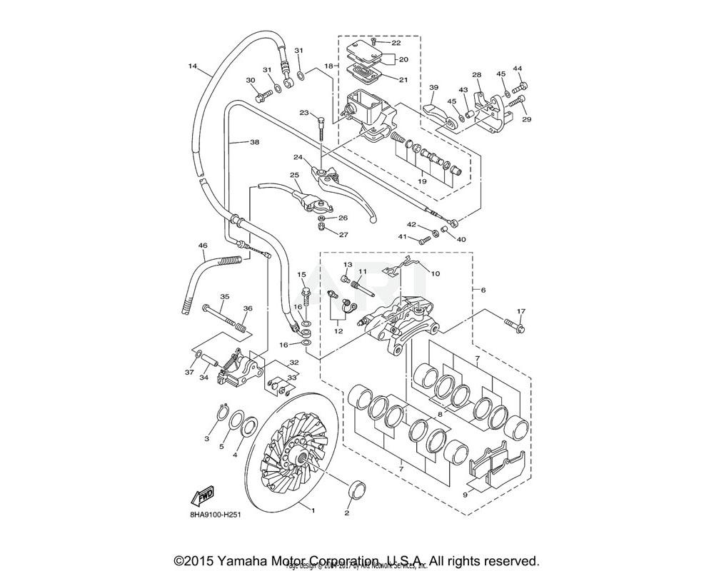 Yamaha OEM 8CR-W0048-00-00 BLEED SCREW KIT