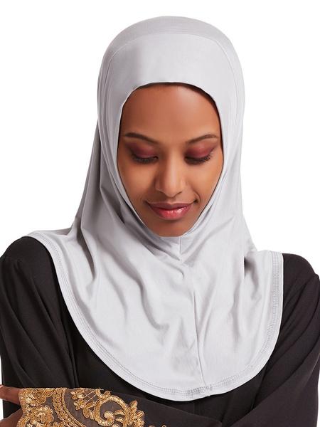 Milanoo Women Casual Hijab Solid Color Scarf Accessory