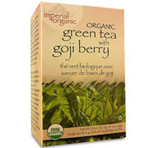 Imperial Organic Green Tea Goji Berry 18 CT by Uncle Lees Teas