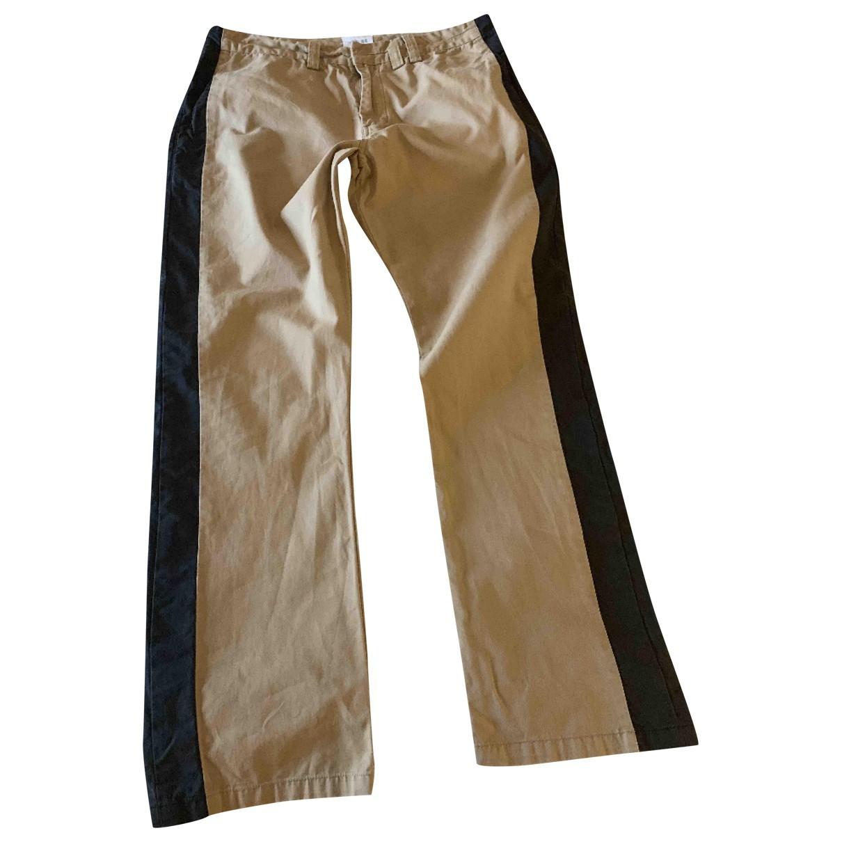 Laurence Dolige \N Camel Cotton Trousers for Women 2 0-5