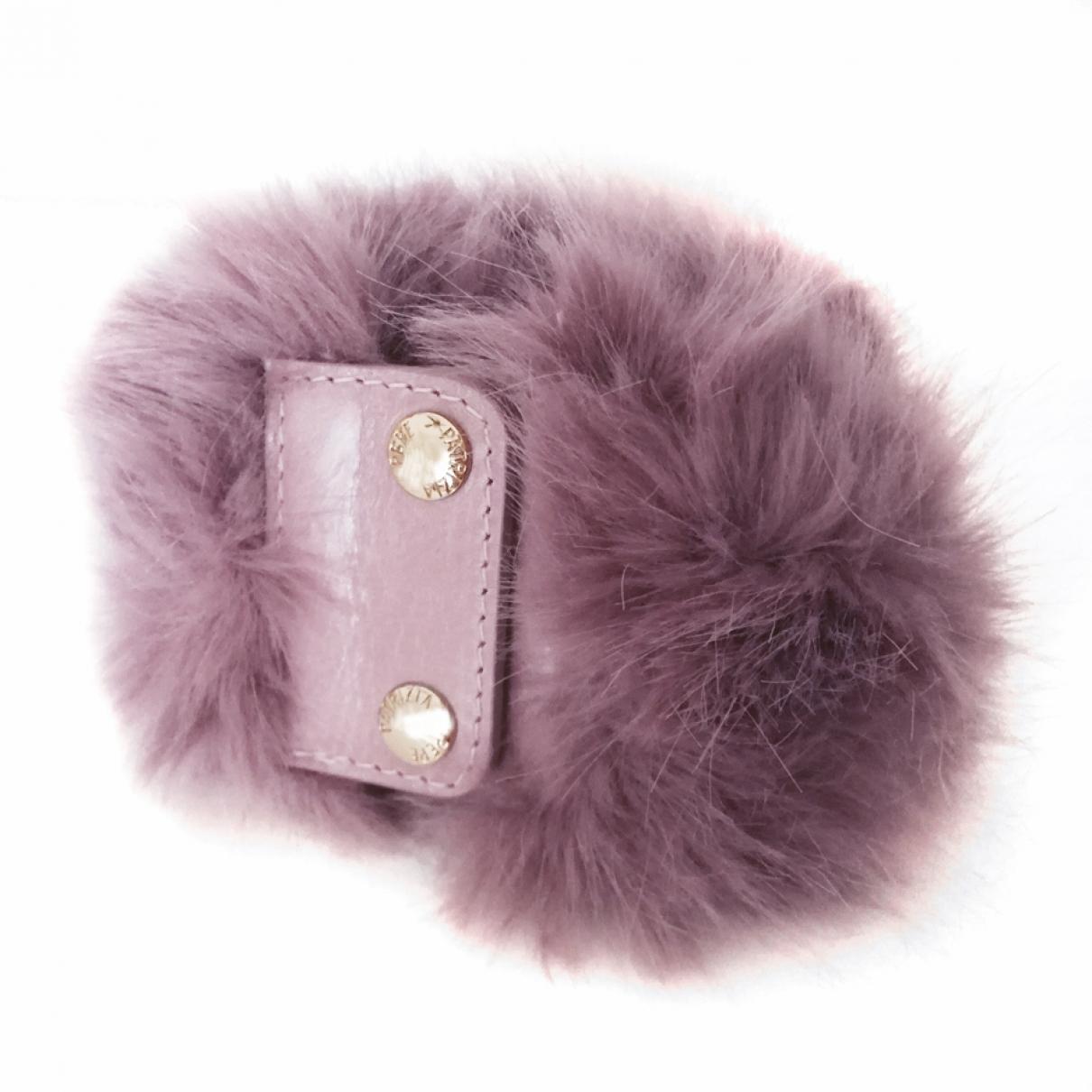 Patrizia Pepe \N Pink Faux fur bracelet for Women \N