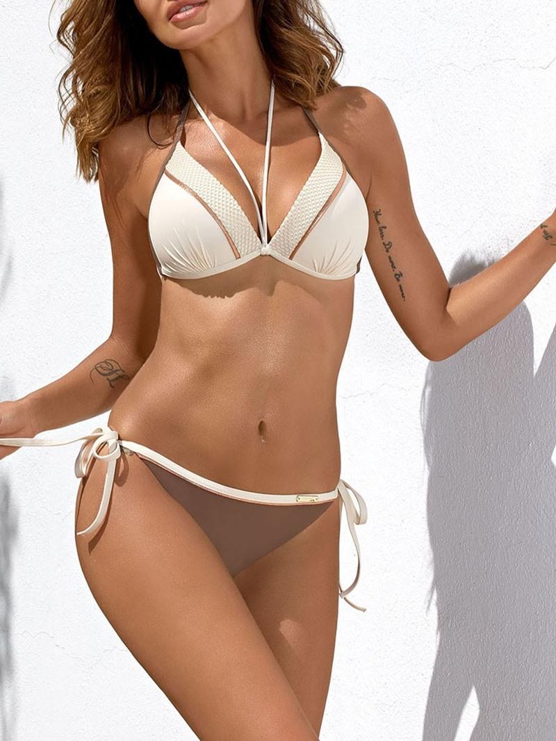 Ericdress Sexy Plain Bikini Set Women's Swimwear