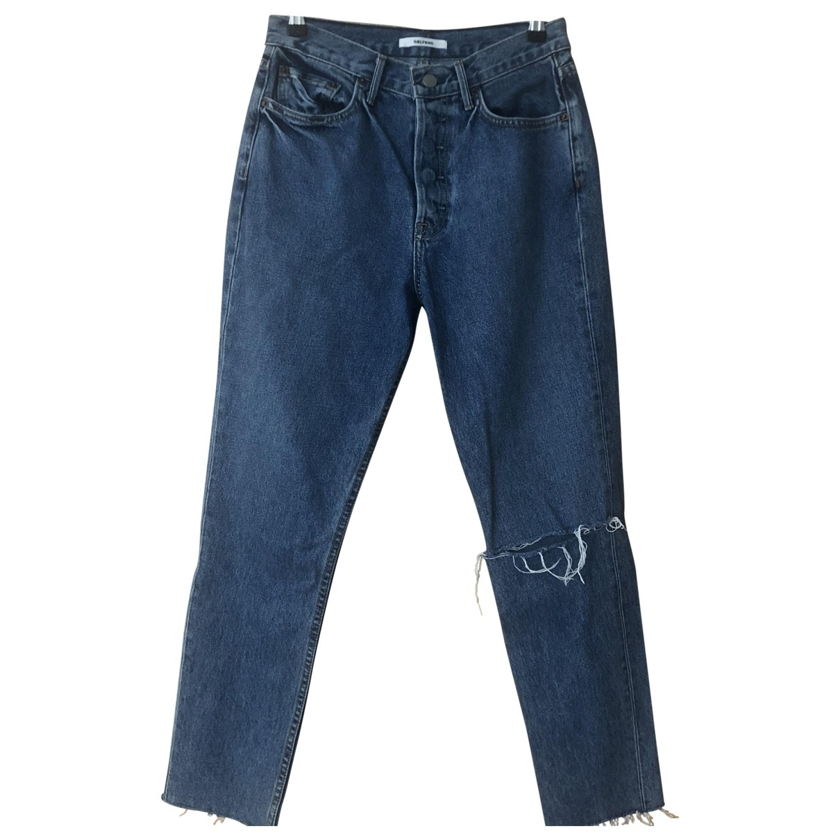 Grlfrnd \N Blue Denim - Jeans Jeans for Women 27 US