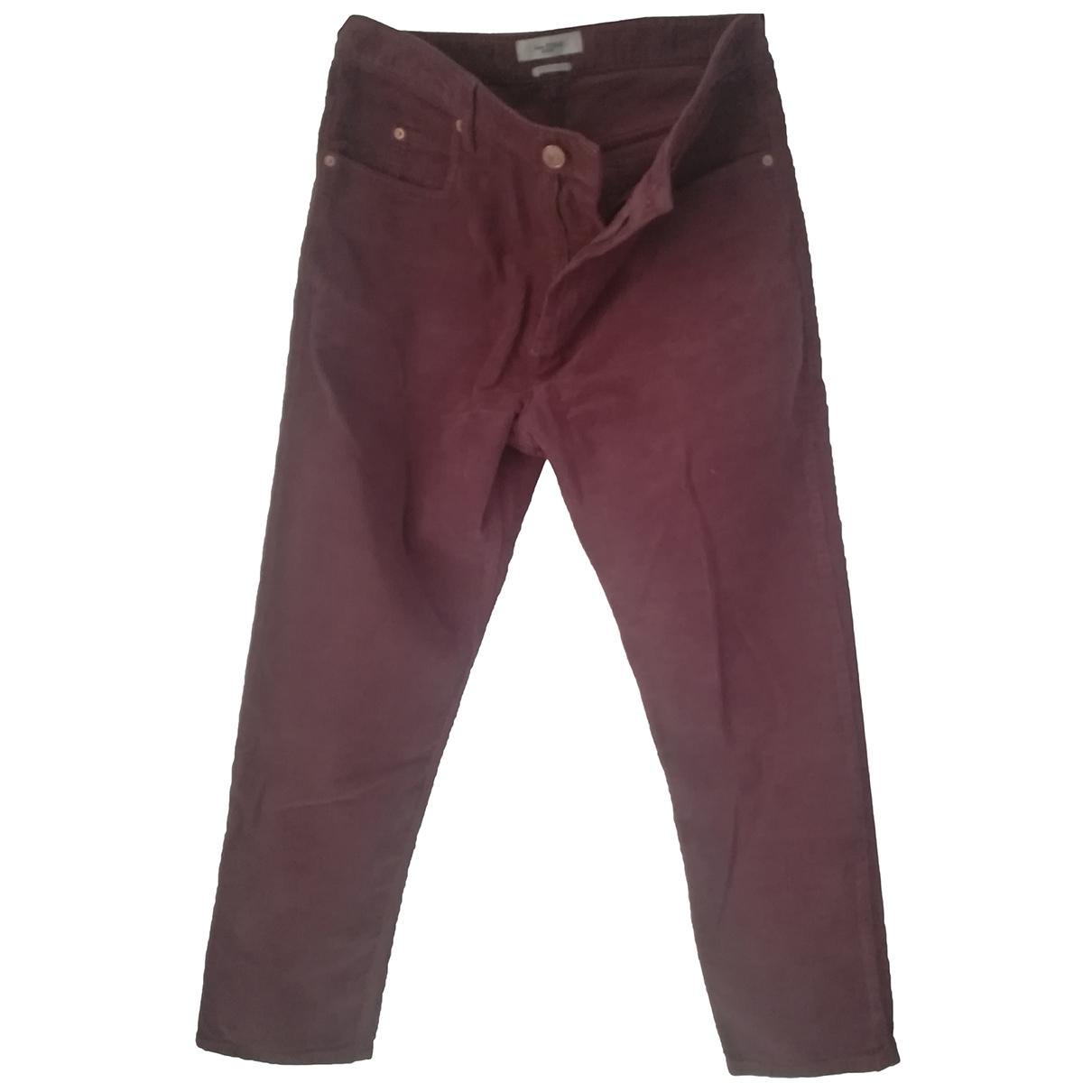 Isabel Marant Etoile \N Burgundy Velvet Trousers for Women 40 FR