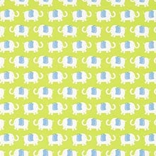 Green Elephant Parade Gift Wrap - 30 X 15' - Gift Wrapping Paper by Paper Mart