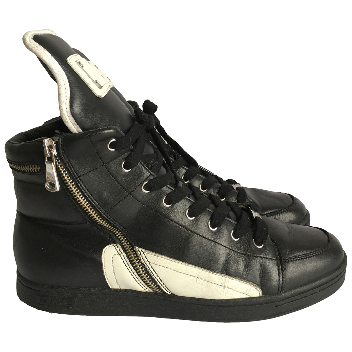 D&g \N Black Leather Trainers for Men 41.5 EU