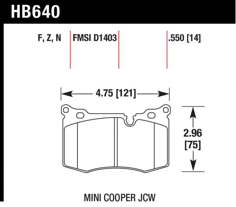 Hawk Performance HB640N.550 Disc Brake Pad Front