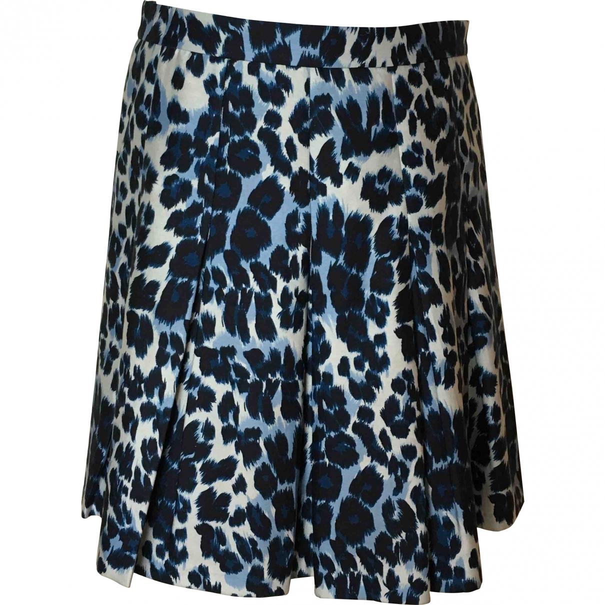 Diane Von Furstenberg \N Blue Cotton skirt for Women 10 US