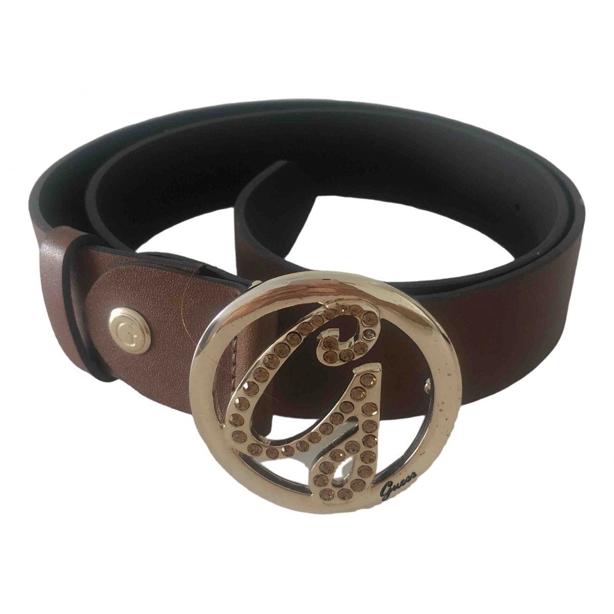 Guess \N Brown Leather belt for Women S International