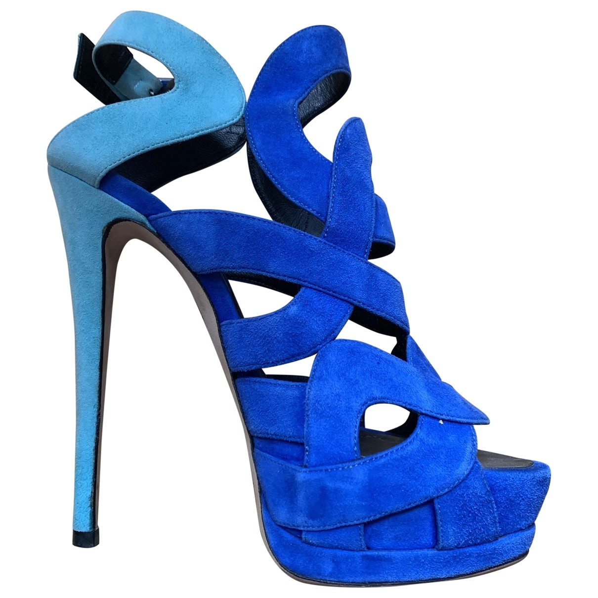 Giuseppe Zanotti \N Blue Suede Sandals for Women 37 EU