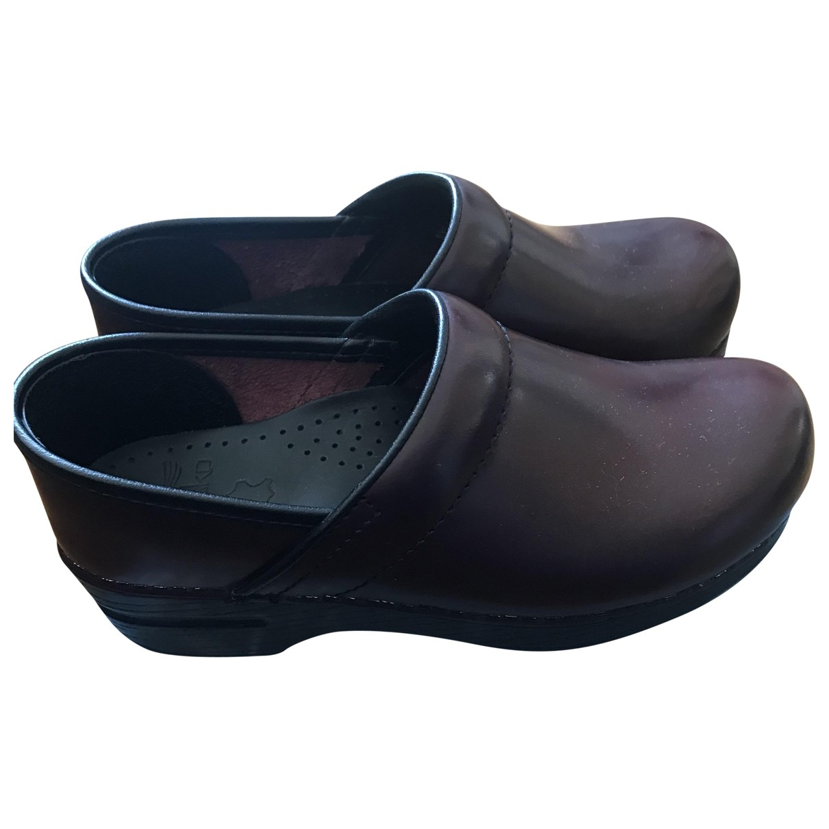 Non Signé / Unsigned \N Leather Mules & Clogs for Women 37 EU