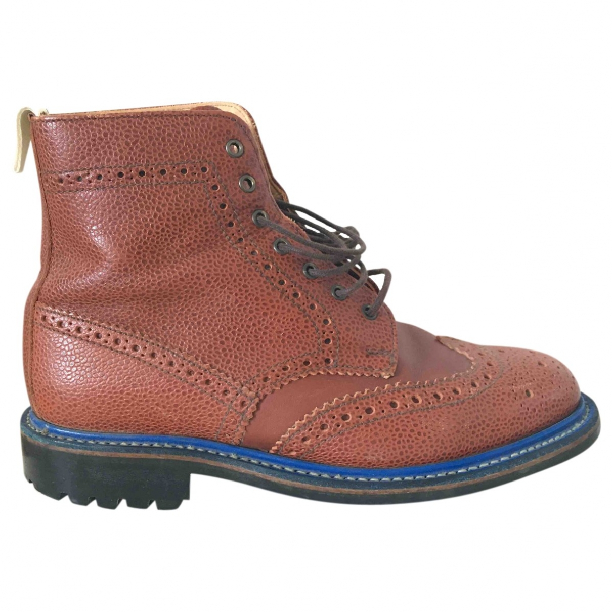 Mark Mc Nairy \N Brown Leather Boots for Men 7.5