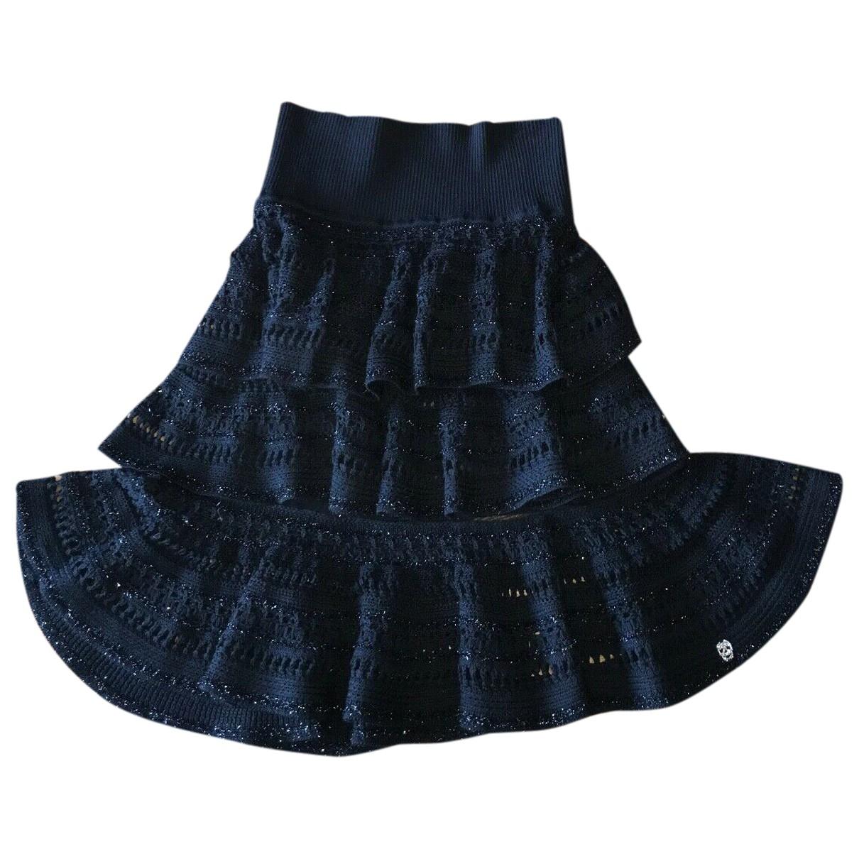 Philipp Plein \N Black Wool skirt for Women S International