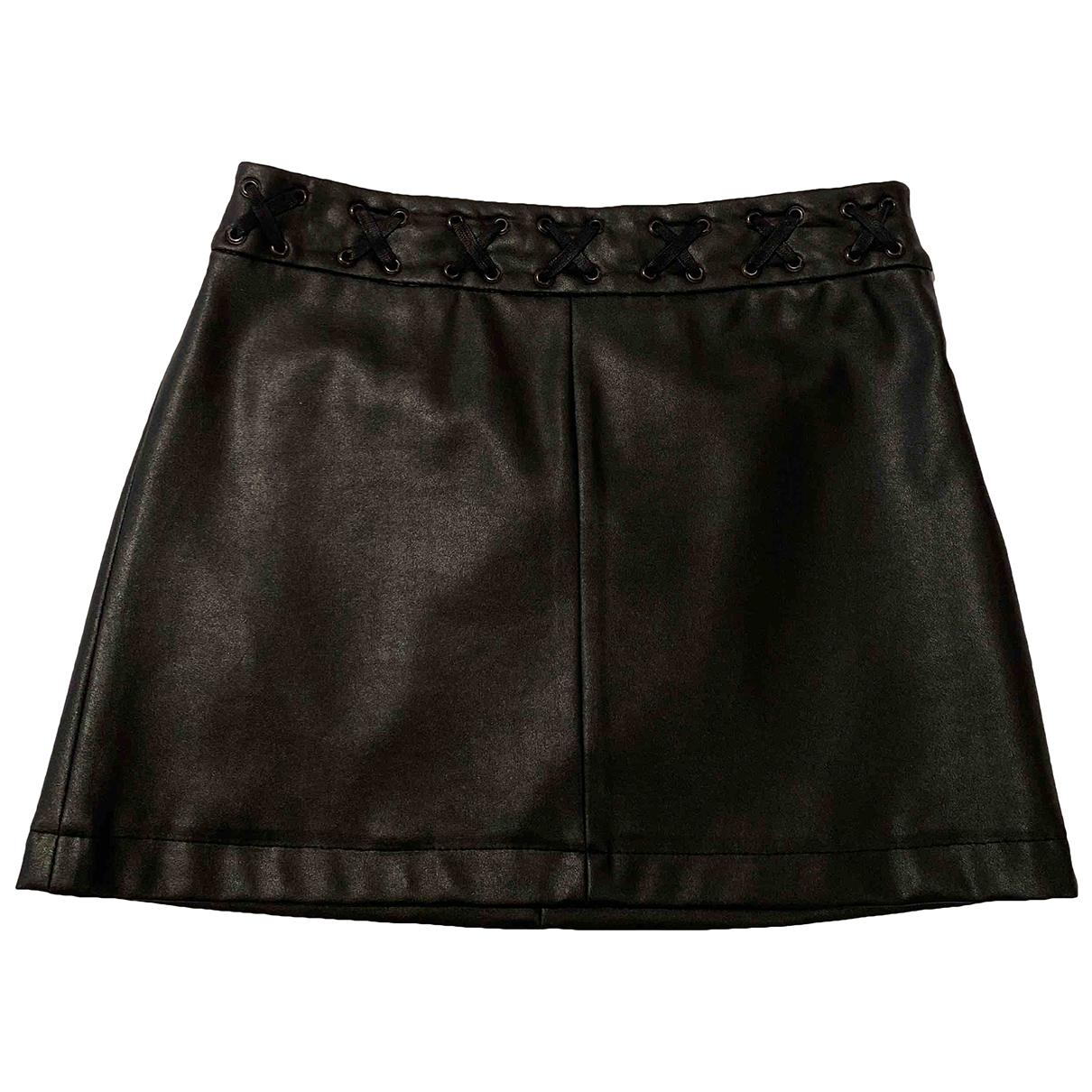 Mango \N Black Leather skirt for Women 38 FR