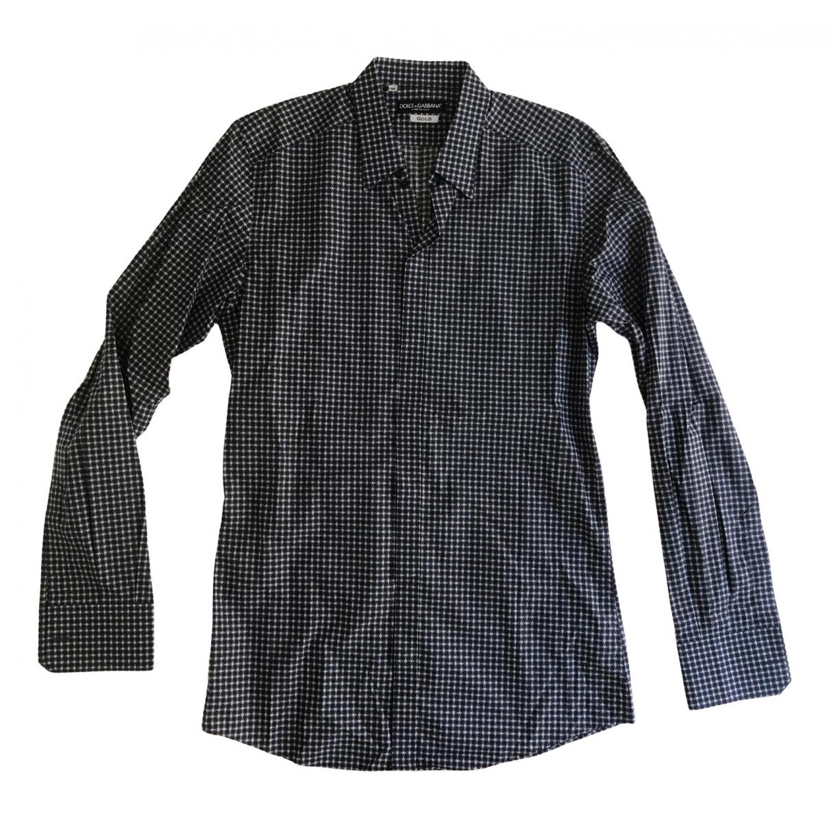Dolce & Gabbana \N Multicolour Cotton Shirts for Men 39 EU (tour de cou / collar)