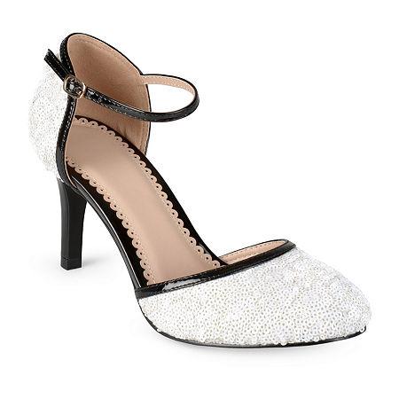 Journee Collection Womens Alison Pumps Spike Heel, 11 Medium, White