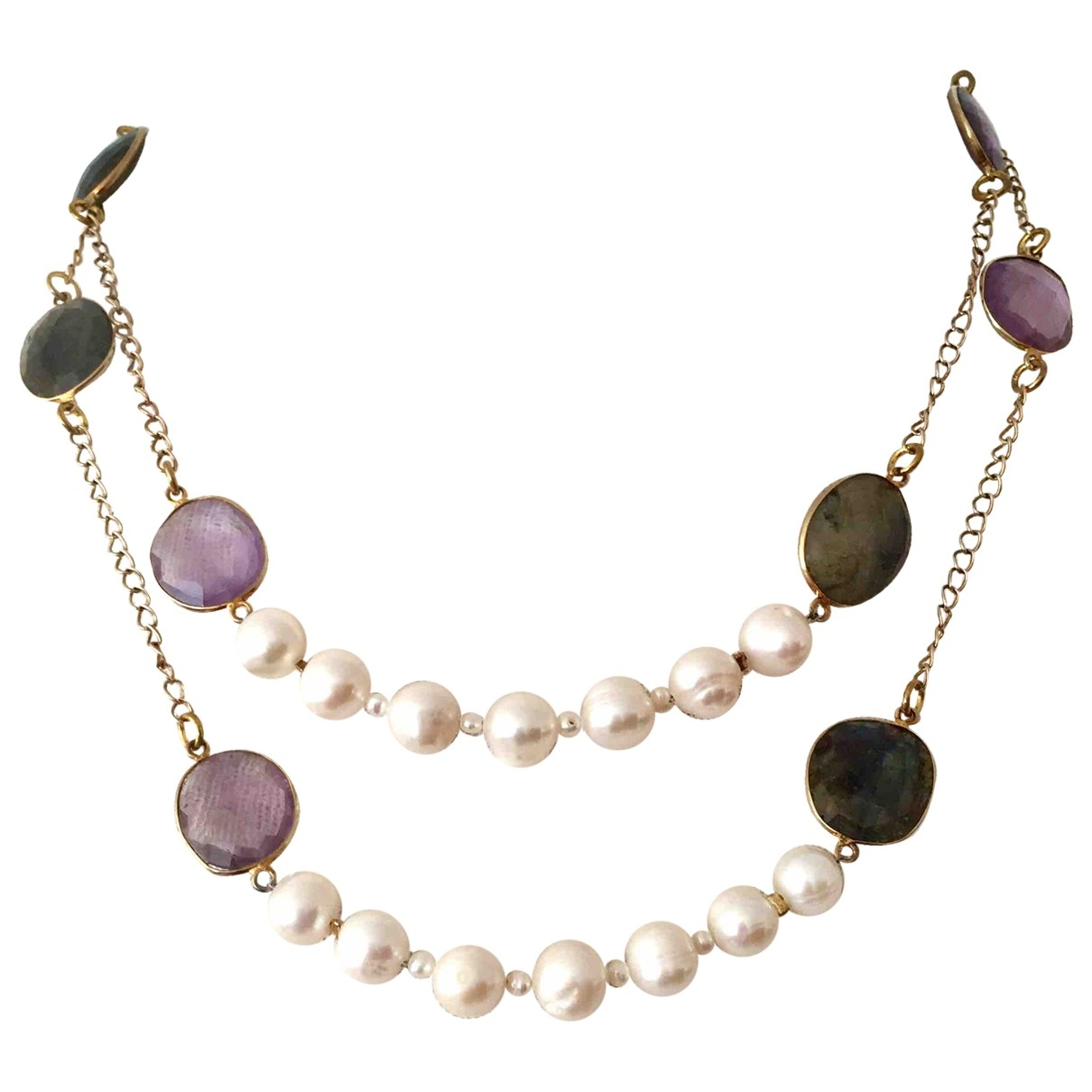 Non Signé / Unsigned Nacre Multicolour Pearls Long necklace for Women \N