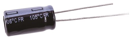 Panasonic 100μF Electrolytic Capacitor 63V dc, Through Hole - EEUFR1J101L (10)