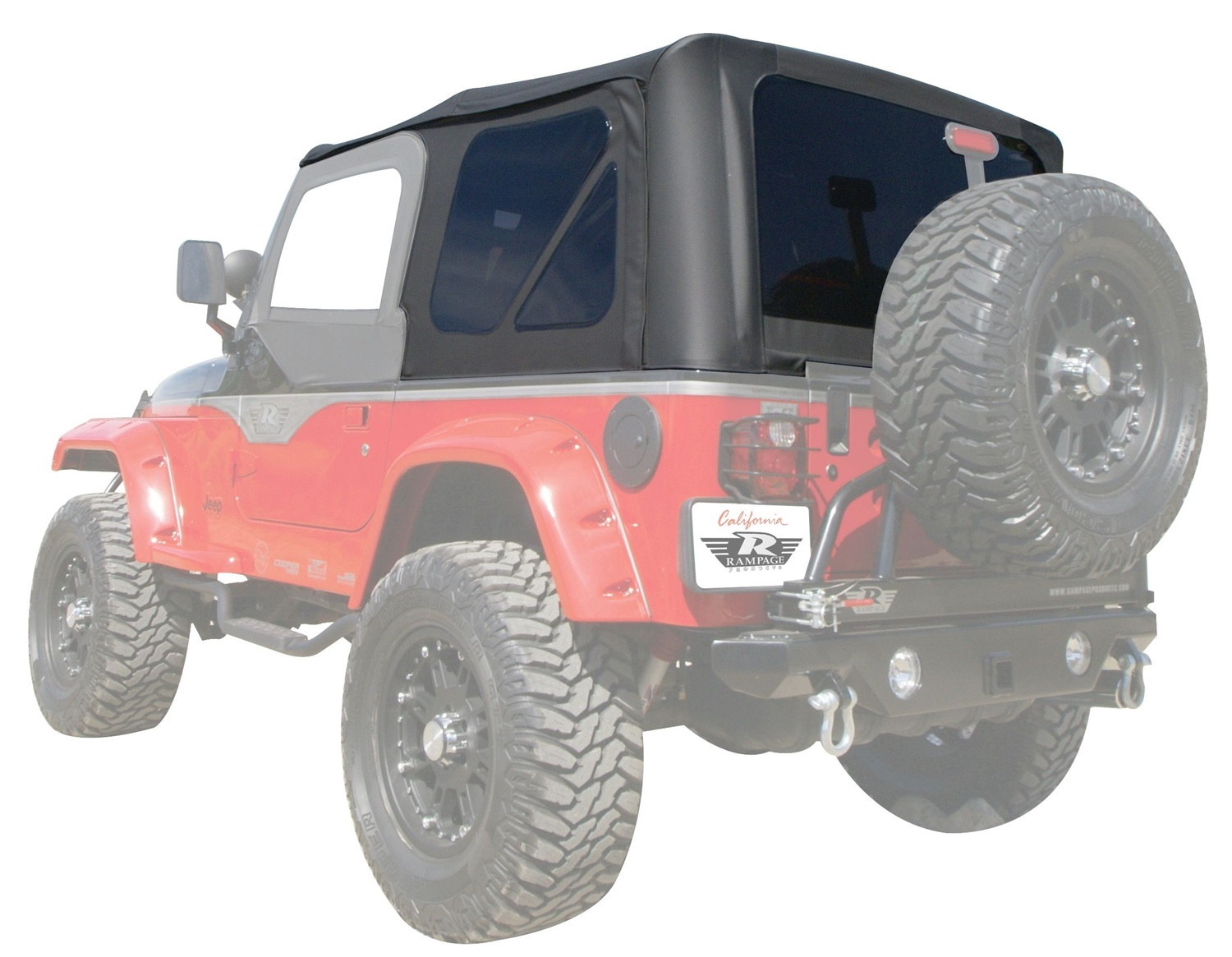 Rampage Factory Replacement Soft Top (Black Diamond) - 912835