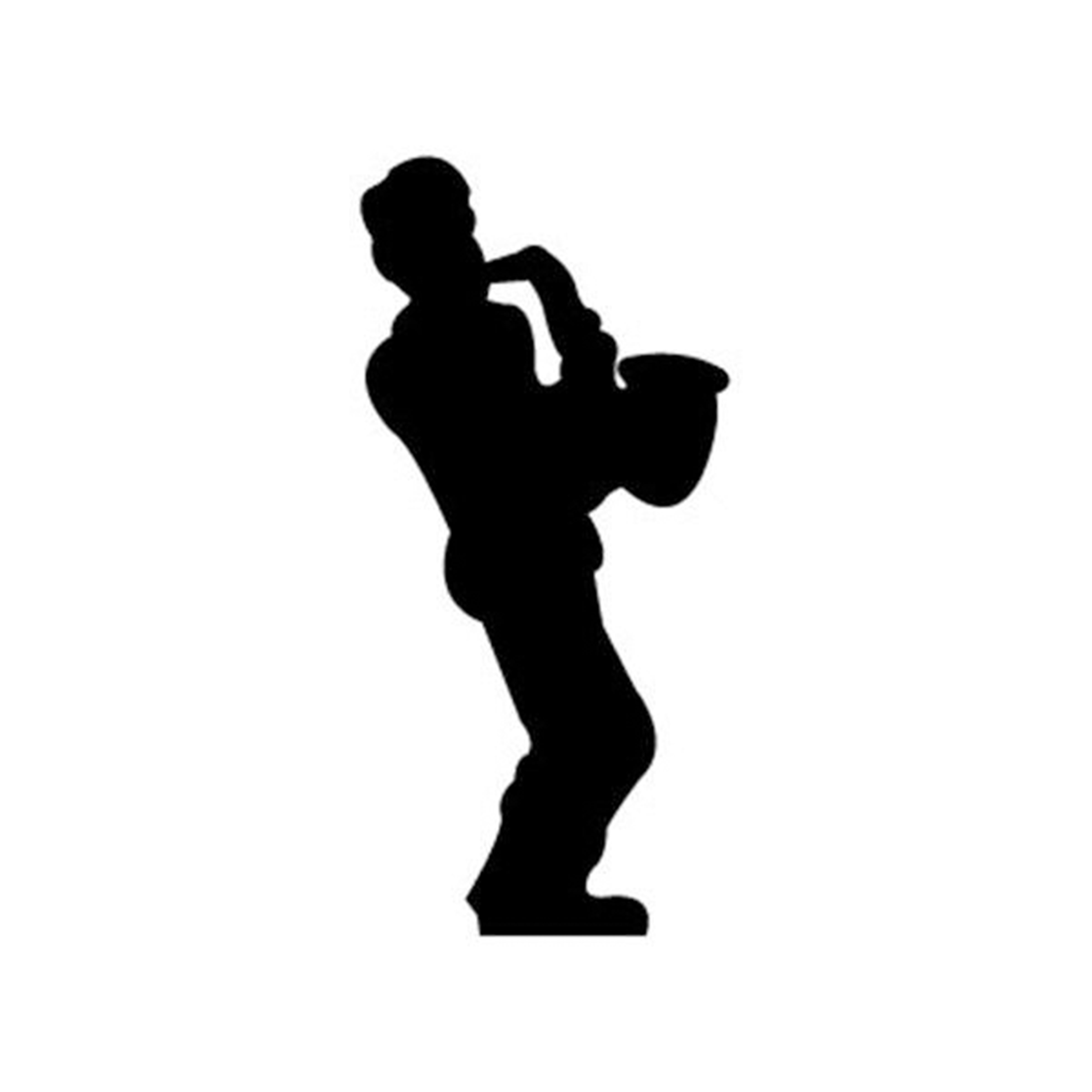 Woodworking Project Paper Plan to Build Saxophone Player Shadow