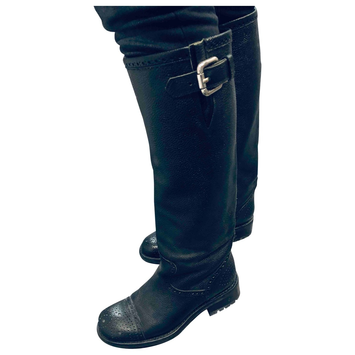 Free Lance Geronimo Black Leather Boots for Women 38 EU