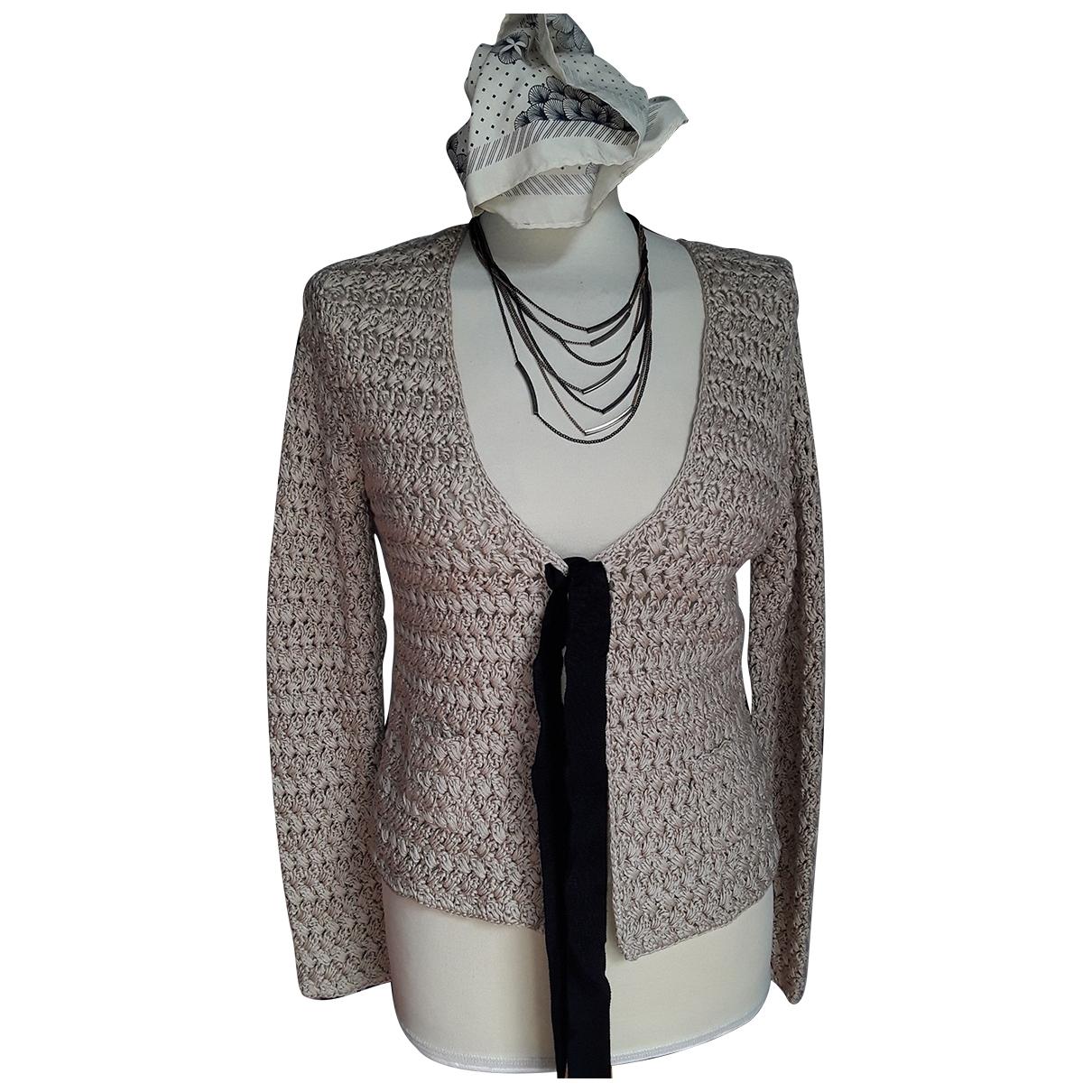 Paule Ka \N Beige Cotton Knitwear for Women 40 FR
