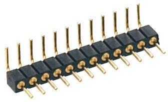 Preci-Dip , 2 Way, 1 Row, Right Angle PCB Header Pin (5)