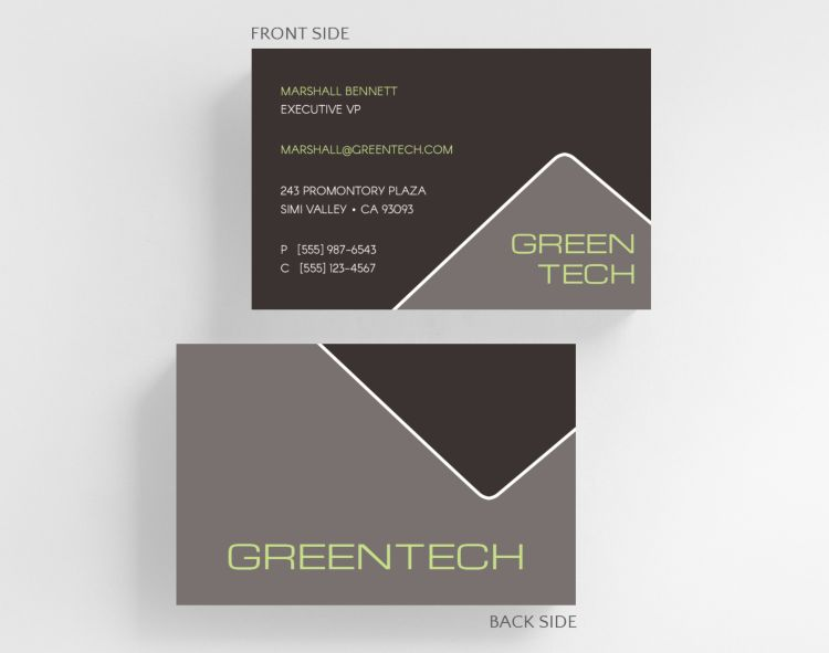 Corner Tabs Business Card Credit Card Size - Business Cards