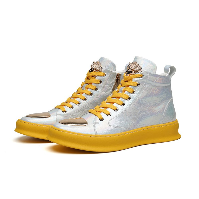 Ericdress Zipper Color Block Round Toe Men's Skate Shoes