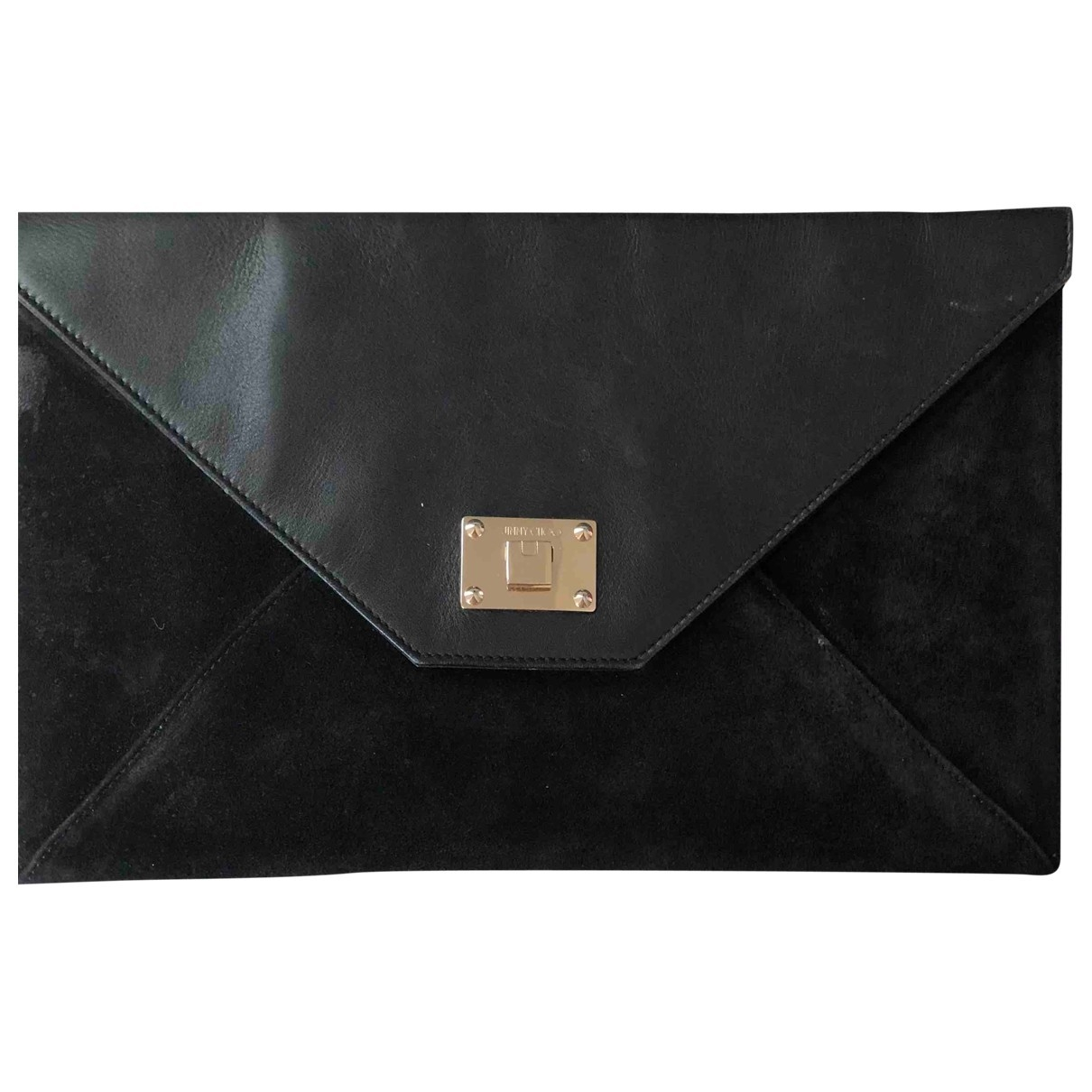 Jimmy Choo Rosetta Black Suede Clutch bag for Women \N