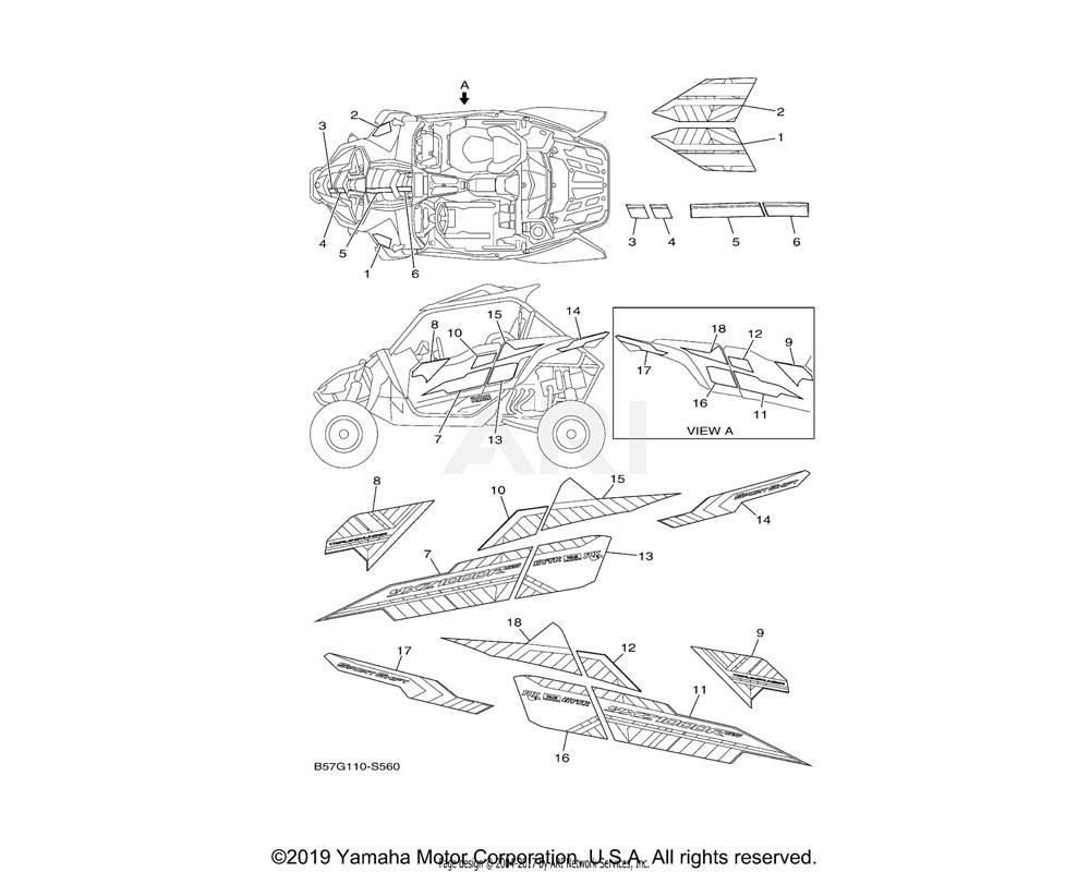 Yamaha OEM 2HC-F15C9-41-00 GRAPHIC 6