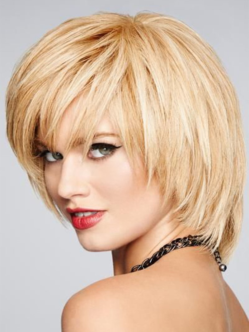 Ericdress Women's Natural Looking Short Layered Cut Hairstyles Straight Synthetic Hair Capless Wigs 8Inch