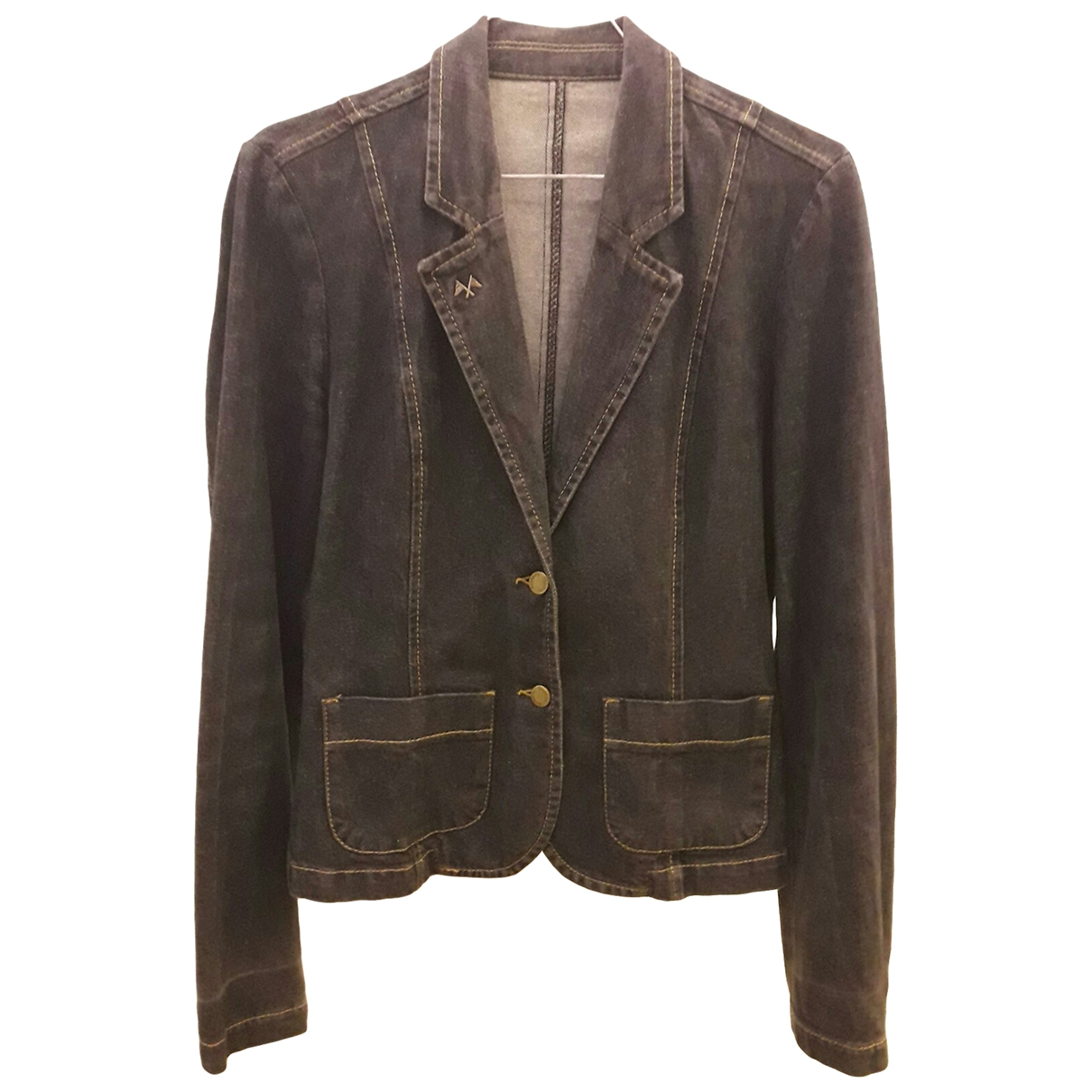 Burberry \N Blue Denim - Jeans jacket for Women 40 FR
