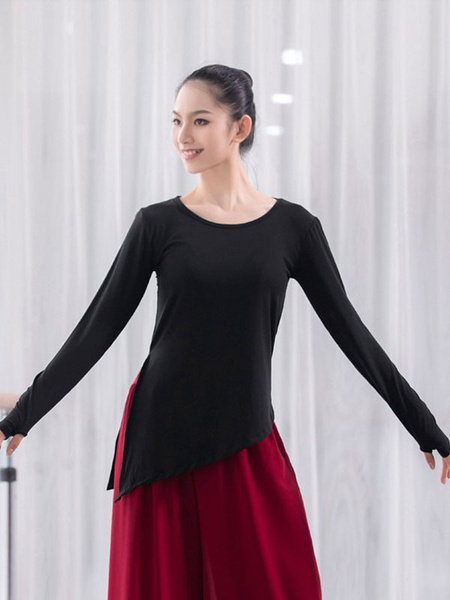 Milanoo Women Latin Dance Uniform Modal Top Dancer Dancing Wears Halloween