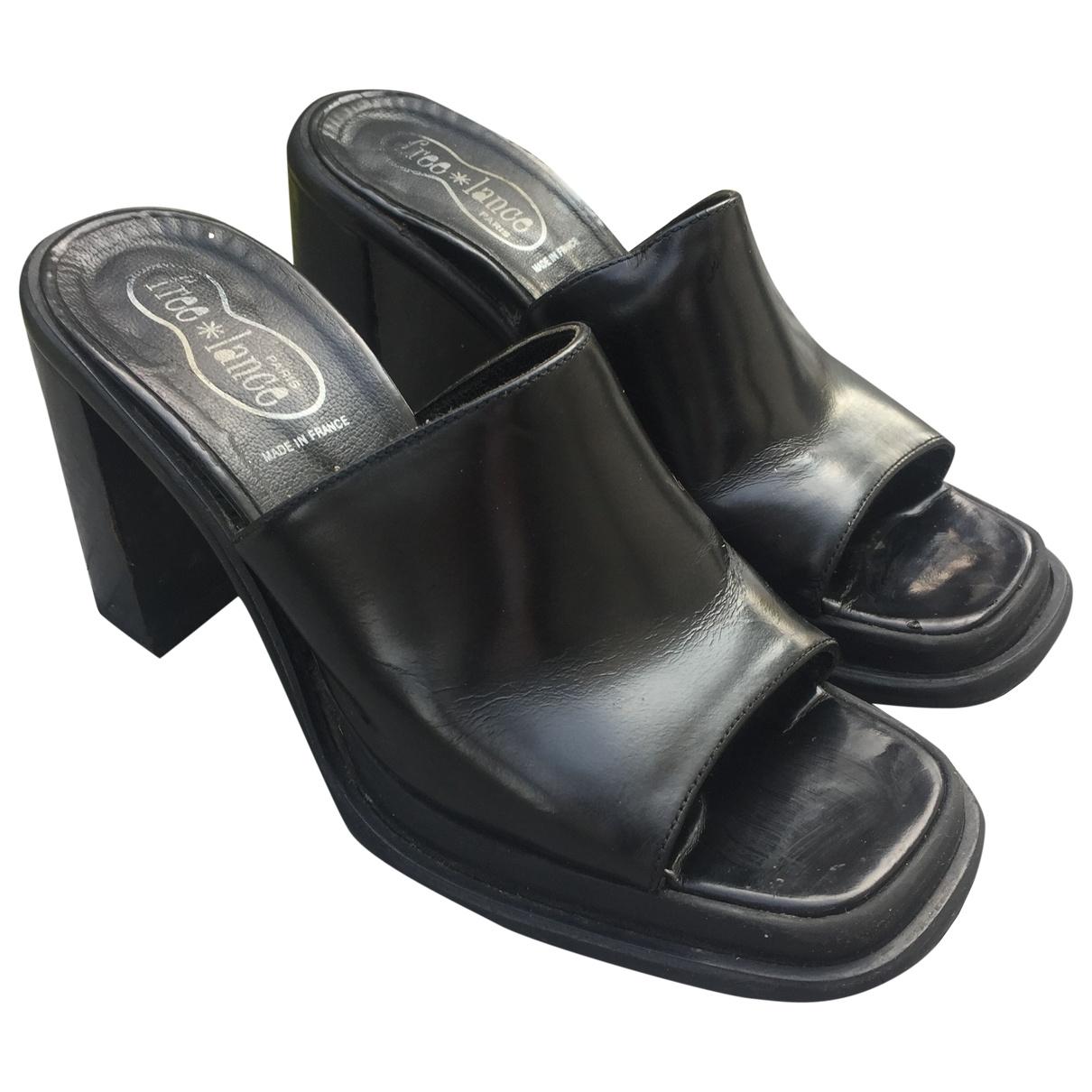 Free Lance - Sandales   pour femme en cuir - noir
