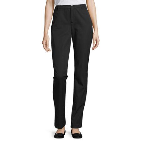 St. John's Bay-Tall Regular Fit Straight Trouser, 18 Tall , Black