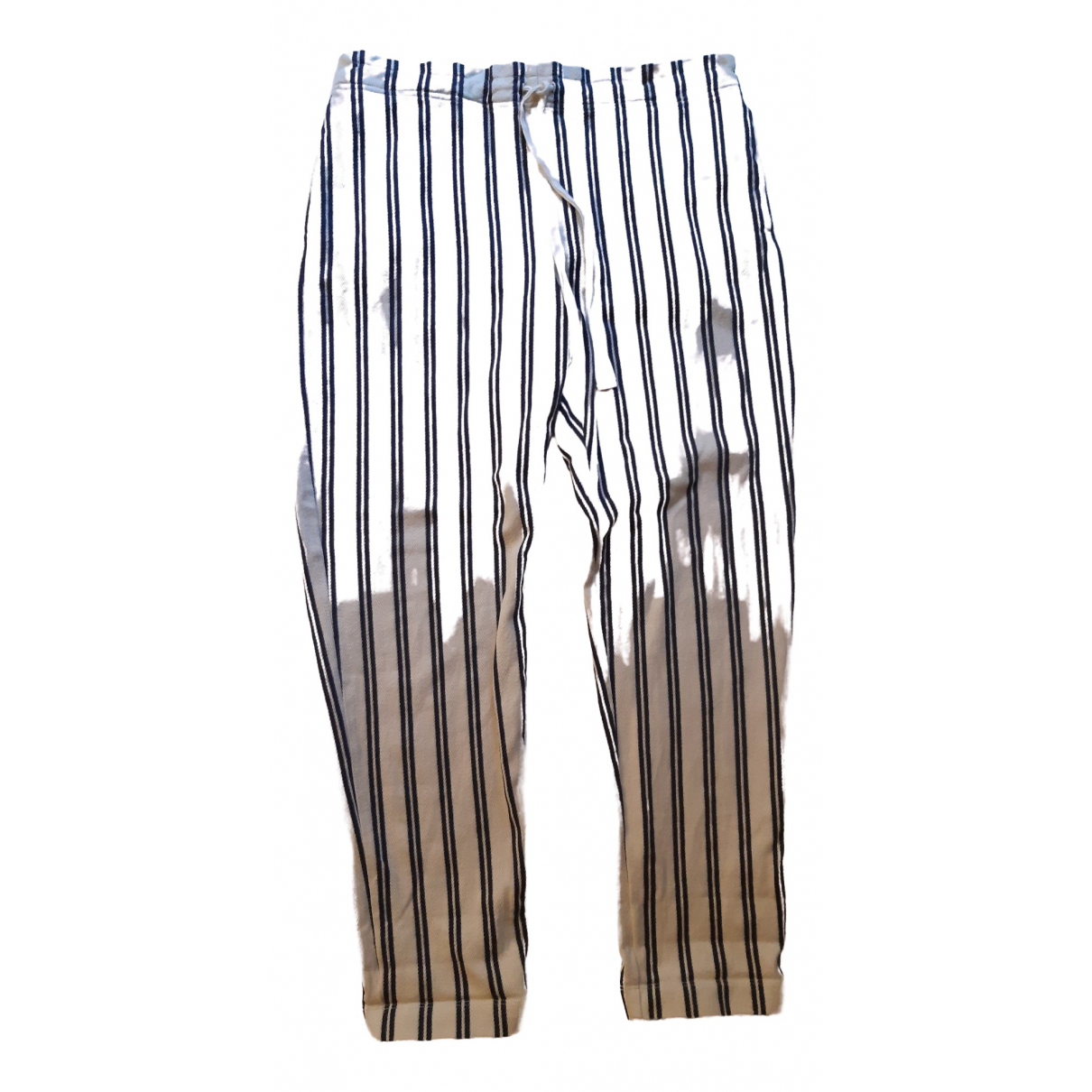 Max & Co \N Beige Cotton Trousers for Women M International