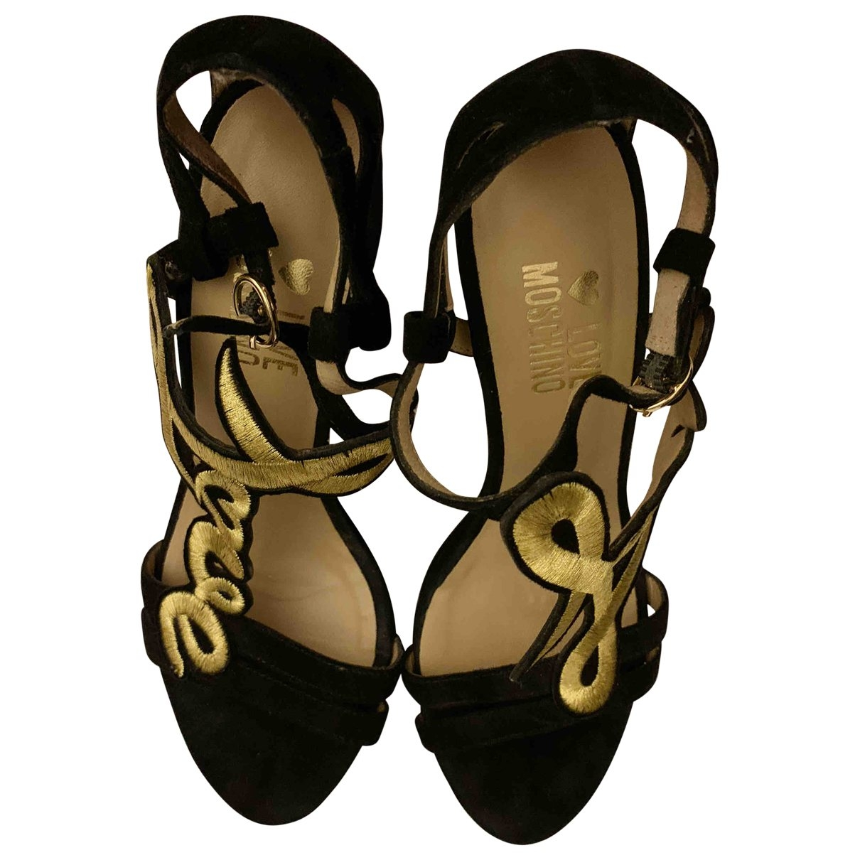 Moschino Love \N Black Suede Sandals for Women 36 EU