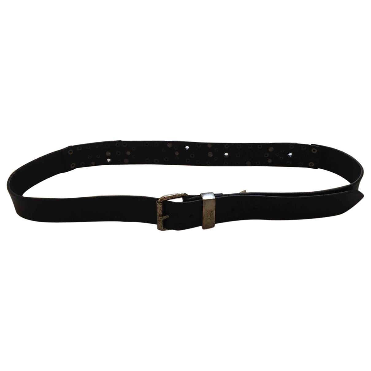 Diesel \N Black Leather belt for Men 100 cm