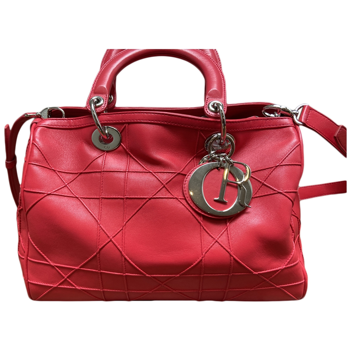 Dior Granville Red Leather handbag for Women \N