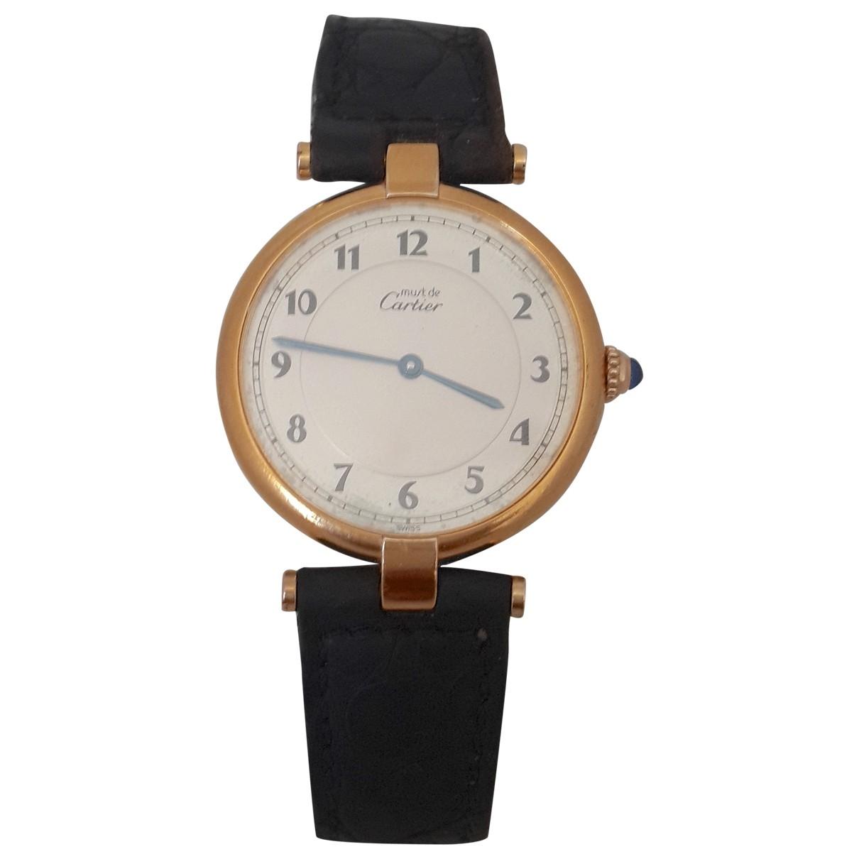 Cartier Must Vendôme  Ecru Silver Gilt watch for Women \N
