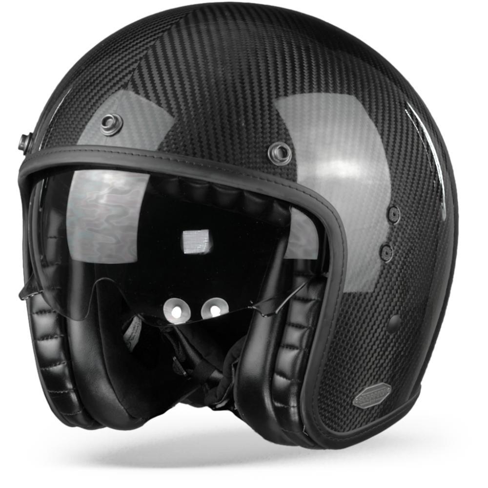 Scorpion Belfast Carbon Solid Casco Jet Negro L