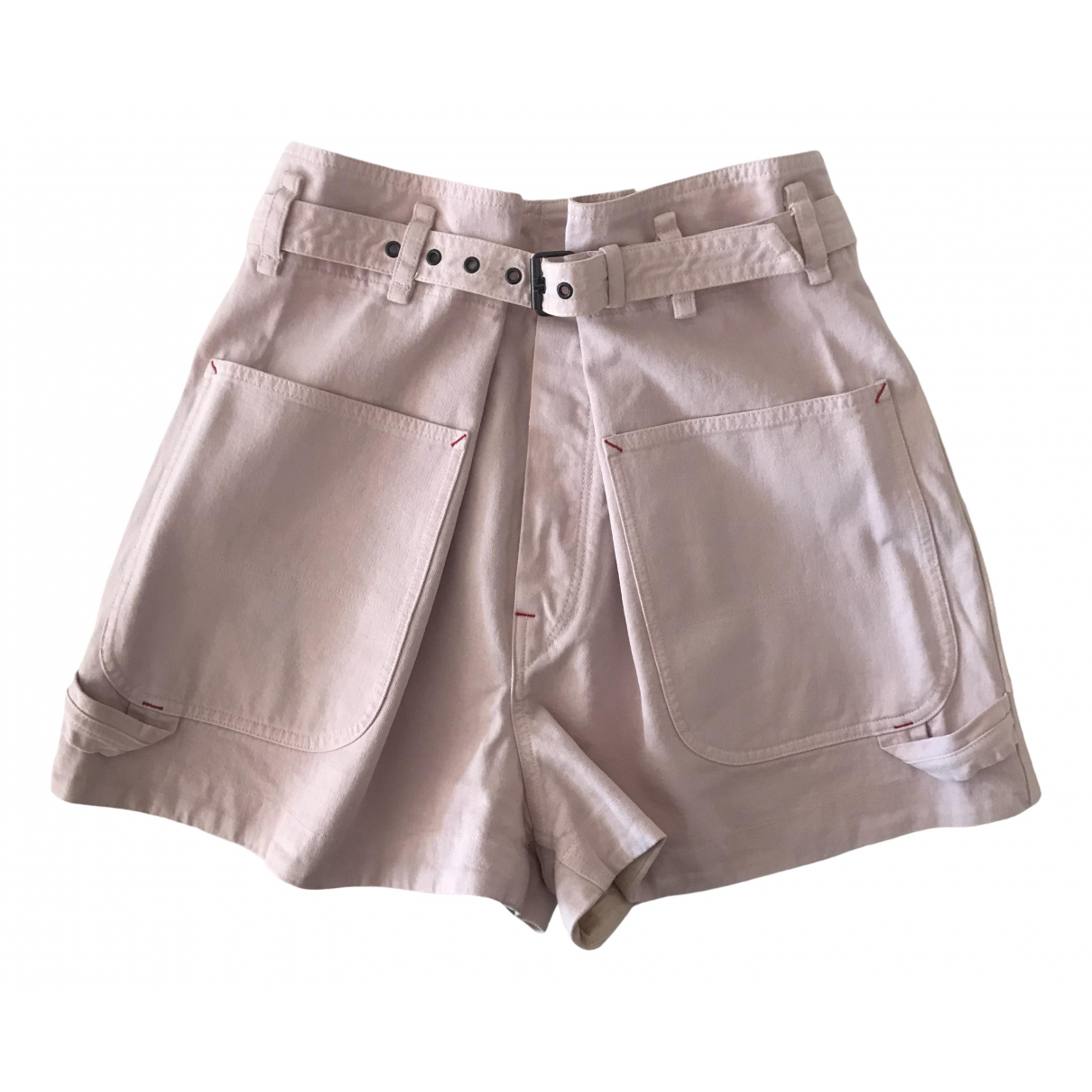 Isabel Marant \N Pink Cotton Shorts for Women 40 FR