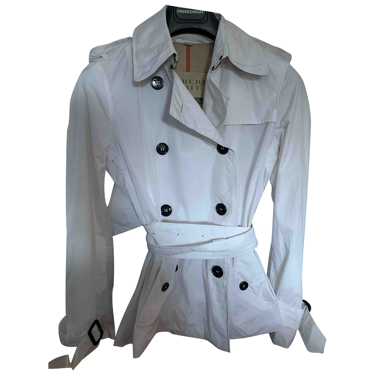 Burberry \N White Trench coat for Women 40 IT
