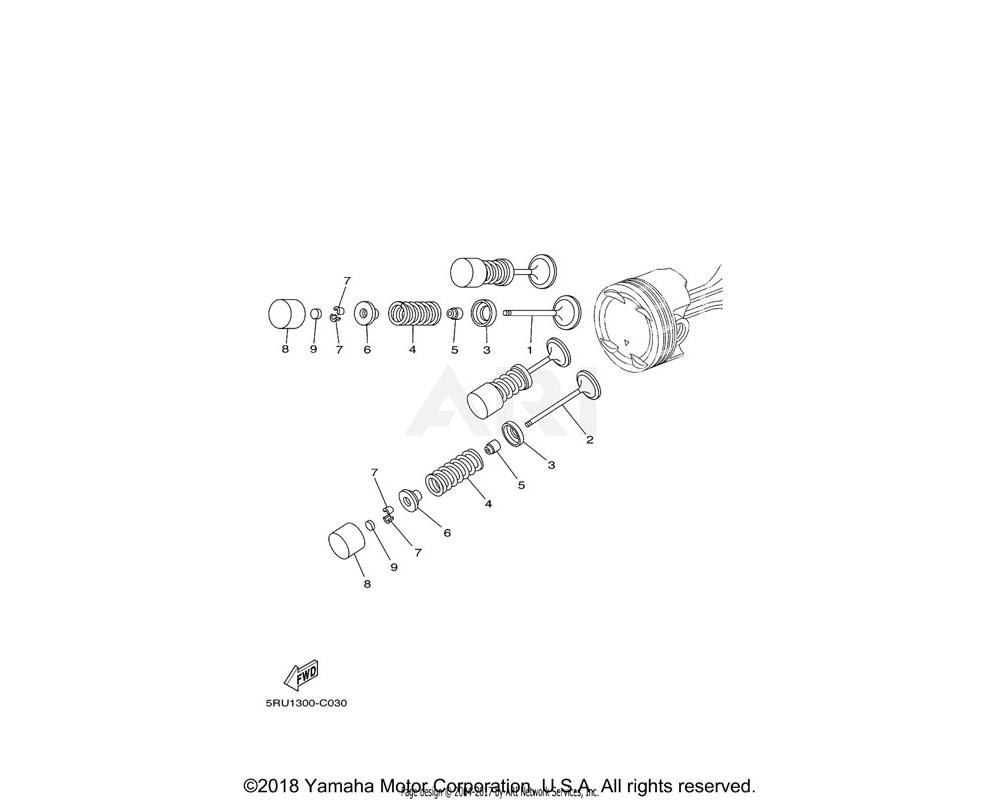 Yamaha OEM 5RU-12153-20-00 LIFTER, VALVE | UR BLUE