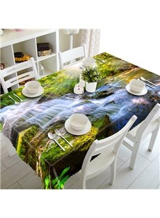Bright Brook and Sunlight Pattern 3D Tablecloth