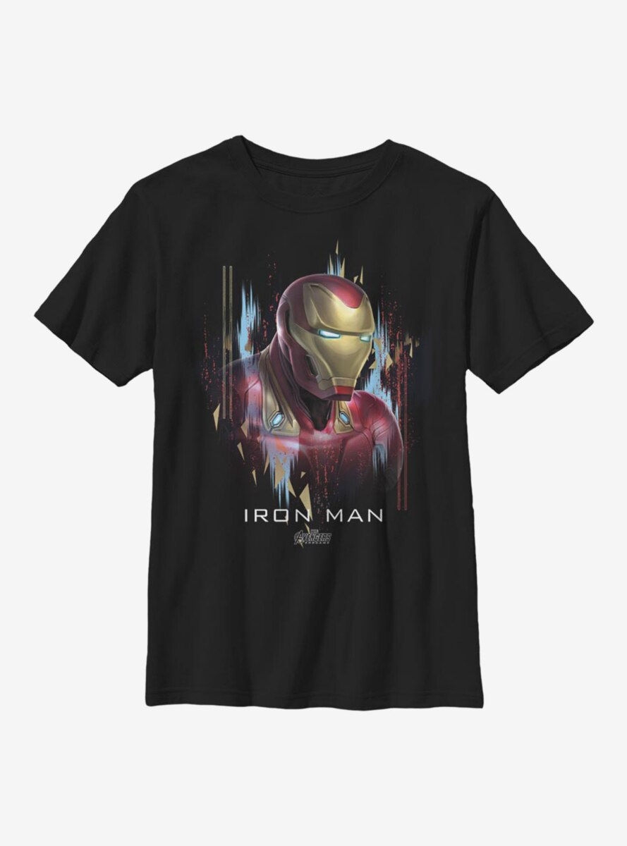 Marvel Iron Man Character Portrait Youth T-Shirt