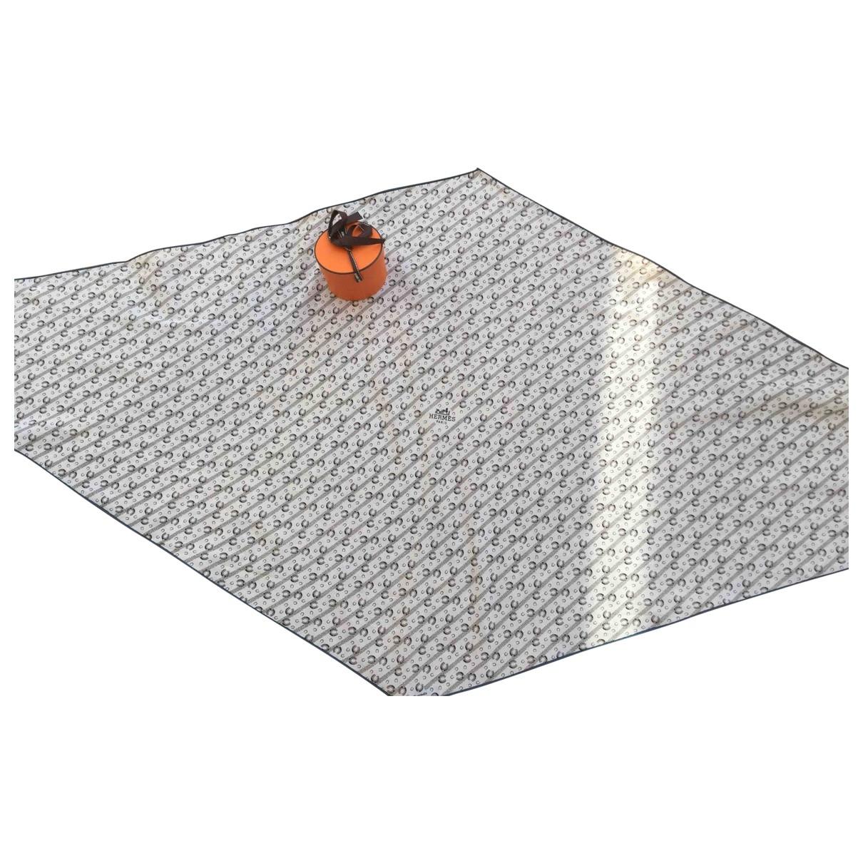 Hermès \N White Cotton scarf & pocket squares for Men \N