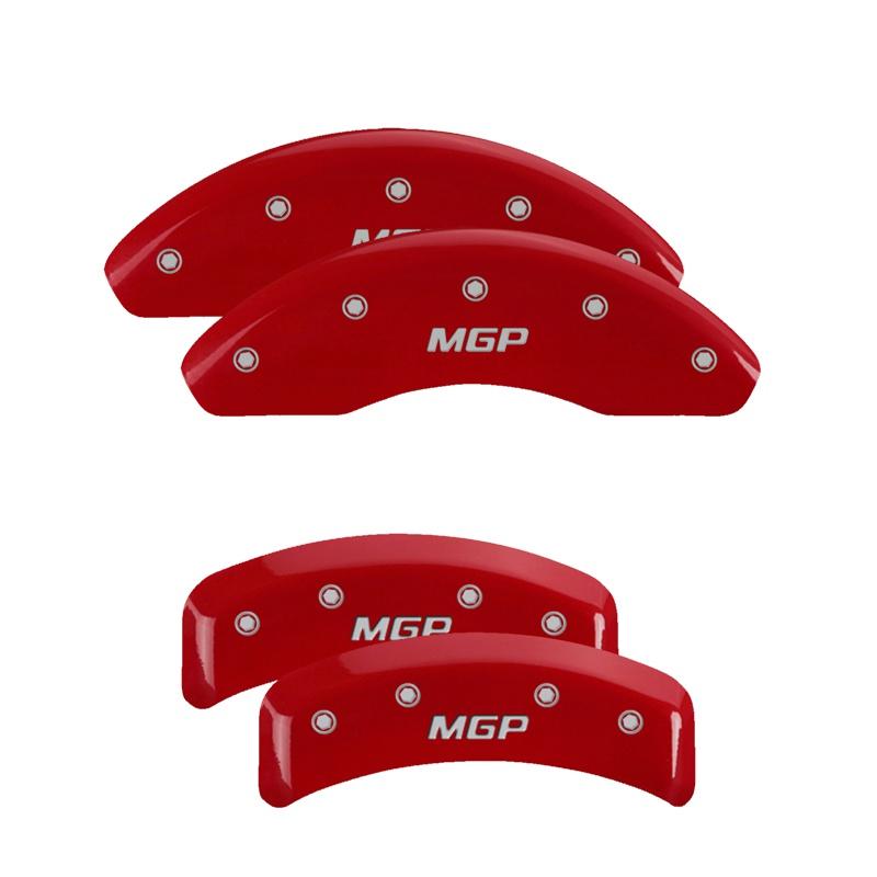 MGP Caliper Covers 22238SMGPRD Set of 4: Red finish, Silver MGP / MGP BMW