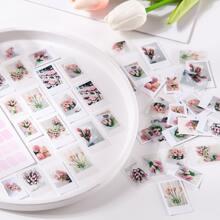 30pcs Flower Print Random Sticker